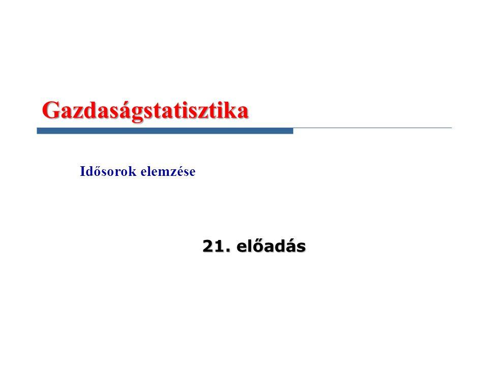 Gazdaságstatisztika Idősorok elemzése 21. előadás