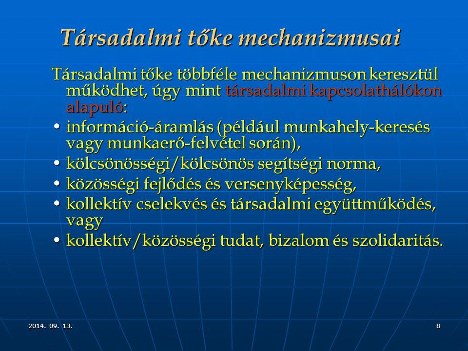 Társadalmi tőke mechanizmusai
