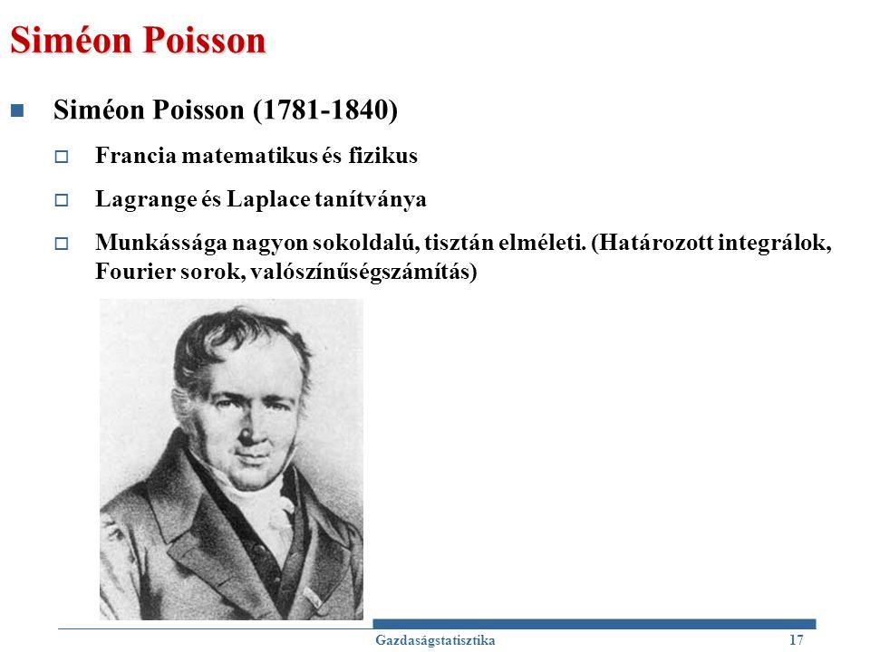 Siméon Poisson Siméon Poisson (1781-1840)