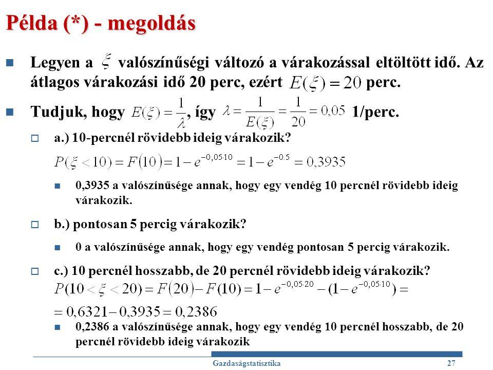 Példa (*) - megoldás