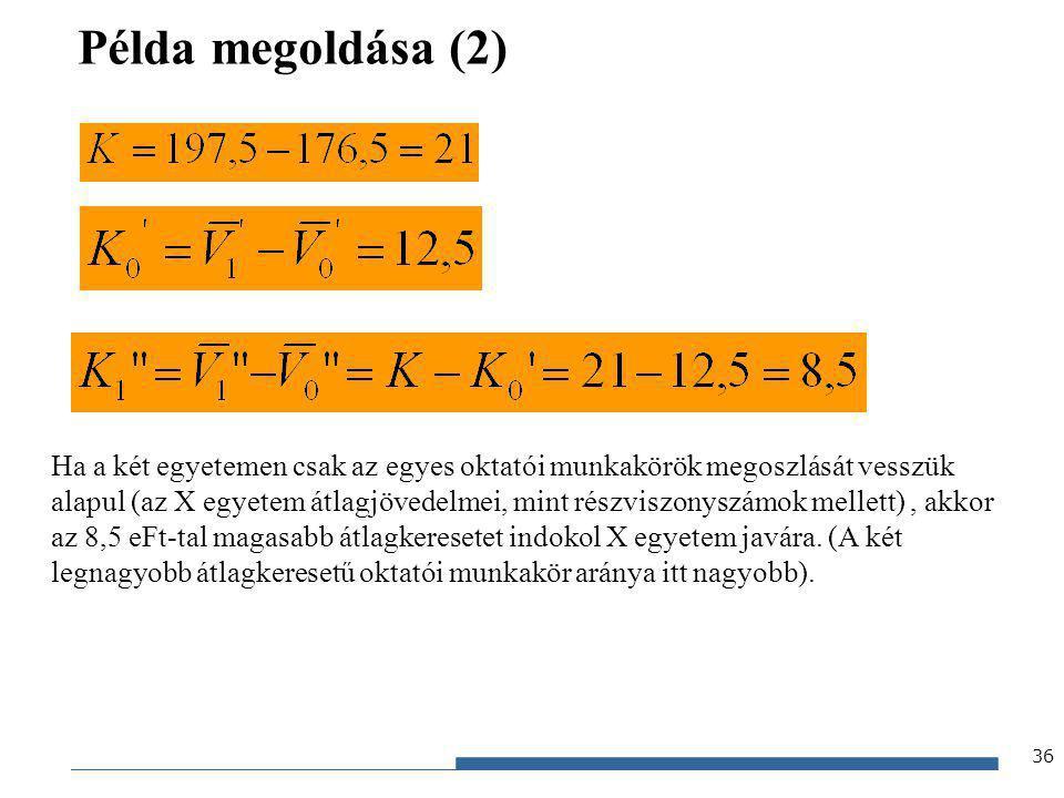 Példa megoldása (2)