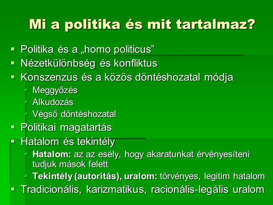 Mi a politika és mit tartalmaz
