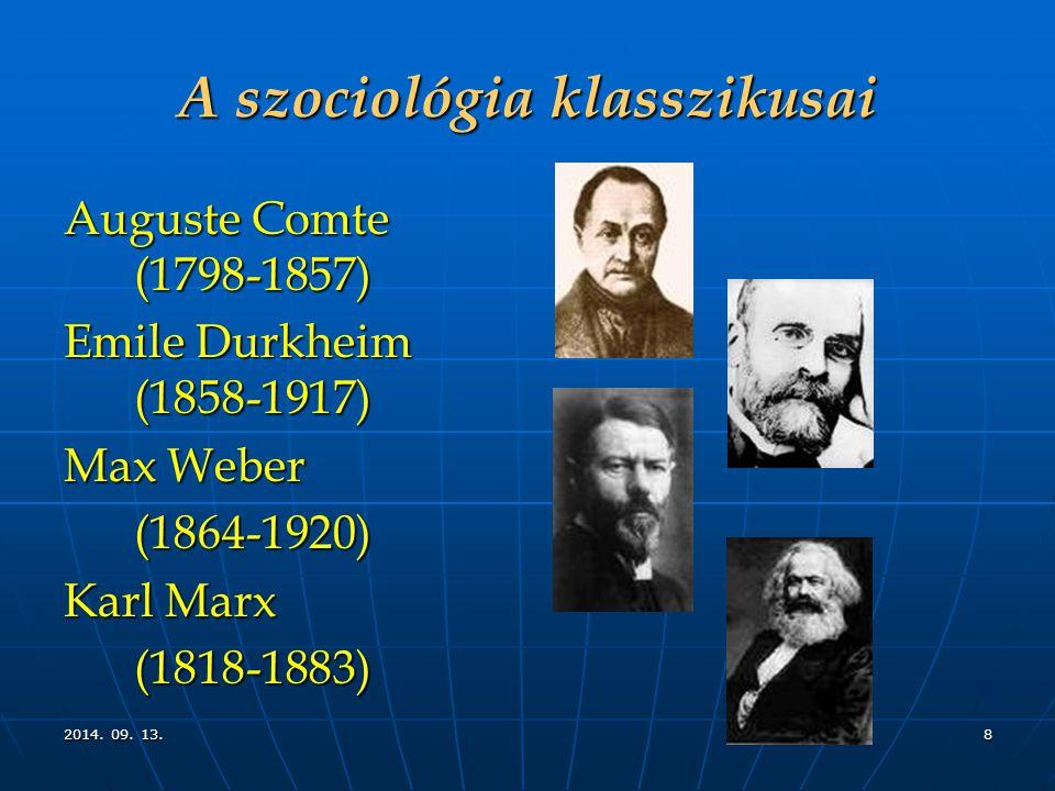 A szociológia klasszikusai