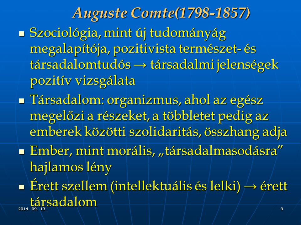 Auguste Comte(1798-1857)