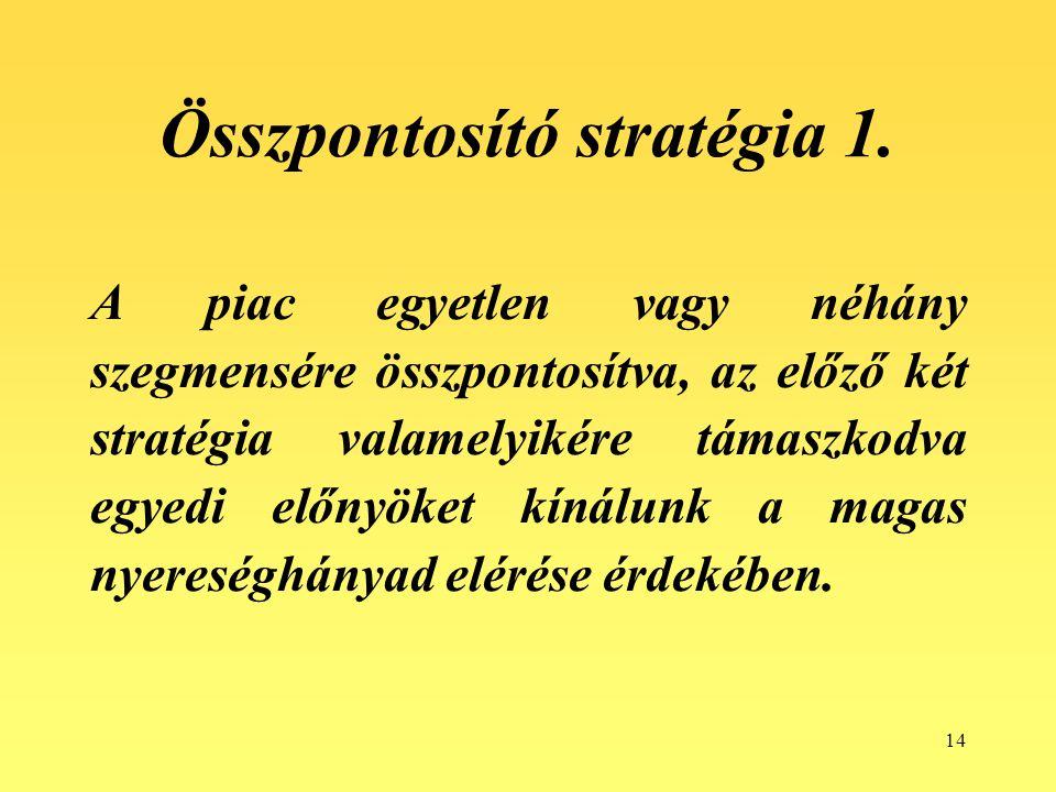 Összpontosító stratégia 1.