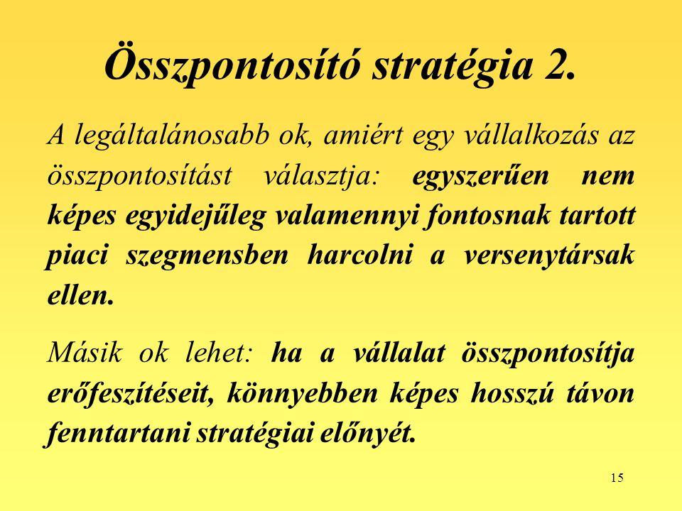 Összpontosító stratégia 2.