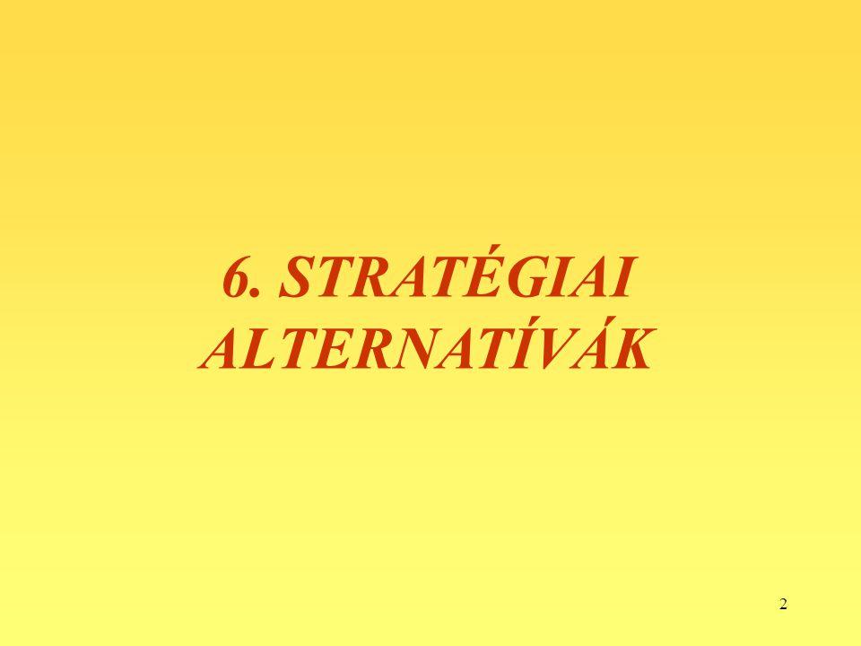 6. STRATÉGIAI ALTERNATÍVÁK