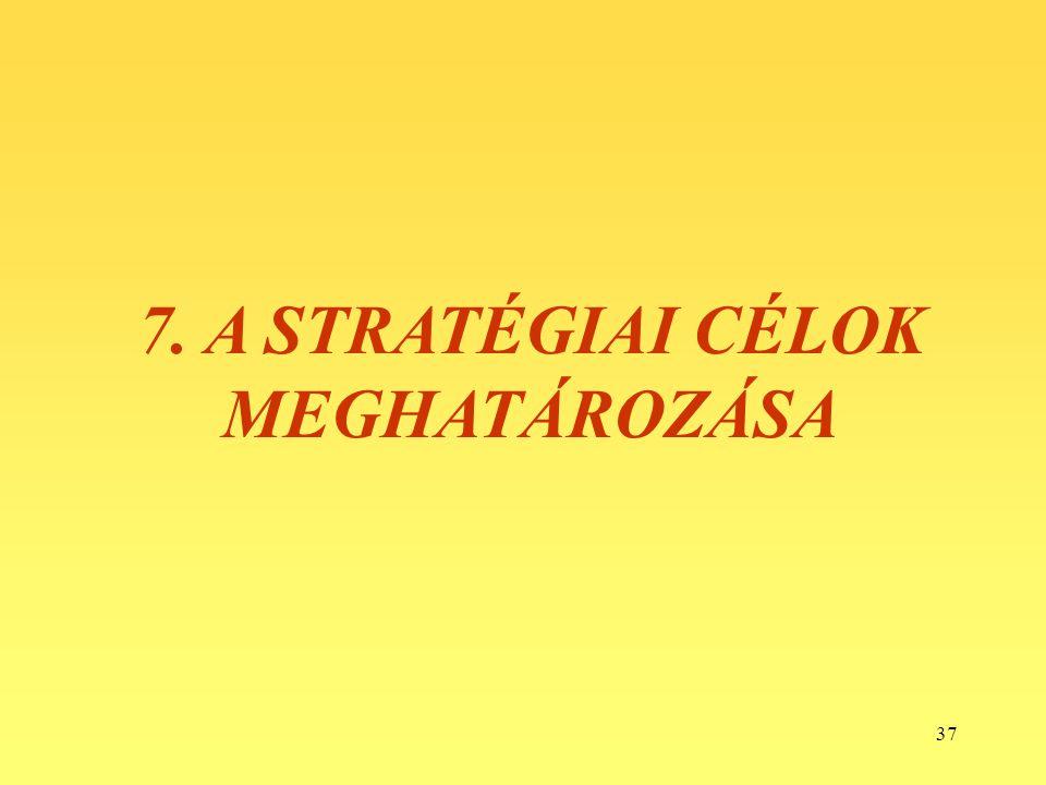 7. A STRATÉGIAI CÉLOK MEGHATÁROZÁSA