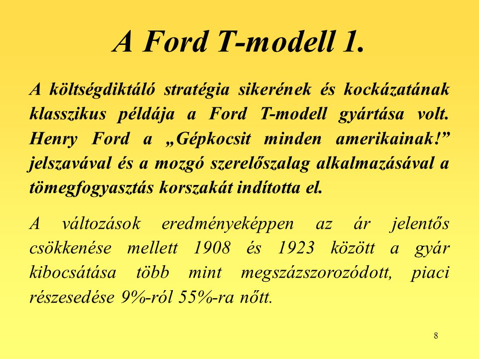 A Ford T-modell 1.