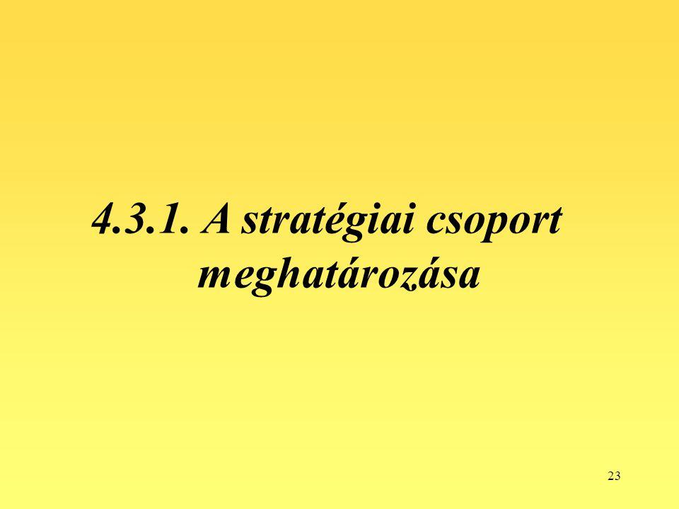 4.3.1. A stratégiai csoport meghatározása