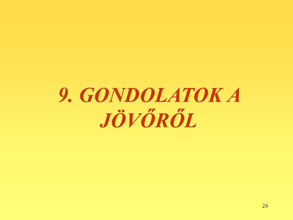 9. GONDOLATOK A JÖVŐRŐL