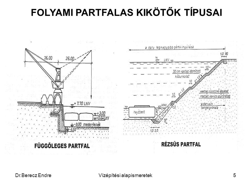 FOLYAMI PARTFALAS KIKÖTŐK TÍPUSAI