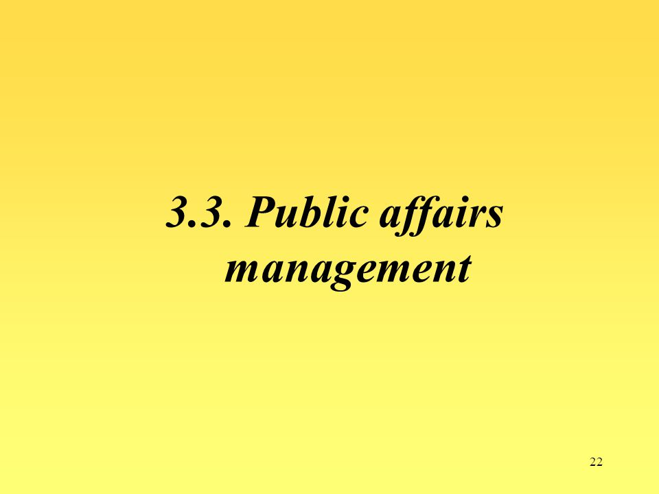 3.3. Public affairs management