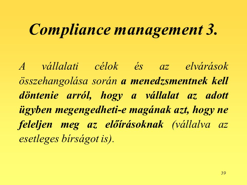 Compliance management 3.