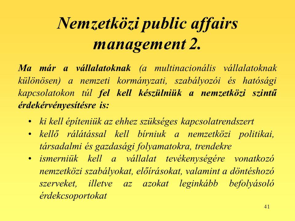 Nemzetközi public affairs management 2.