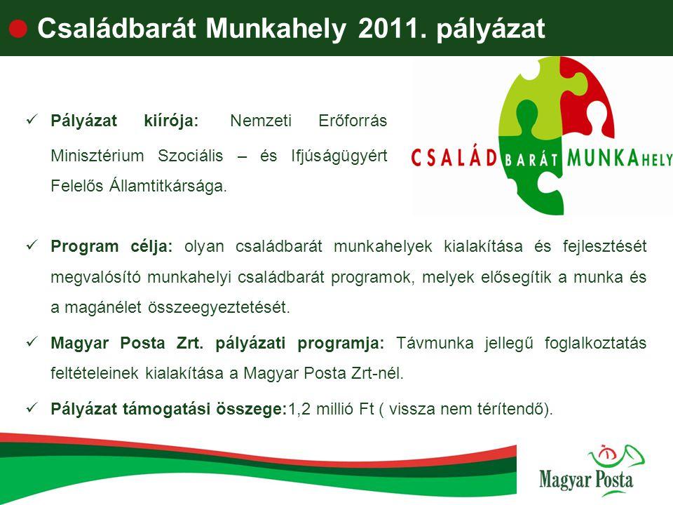 Családbarát Munkahely 2011. pályázat