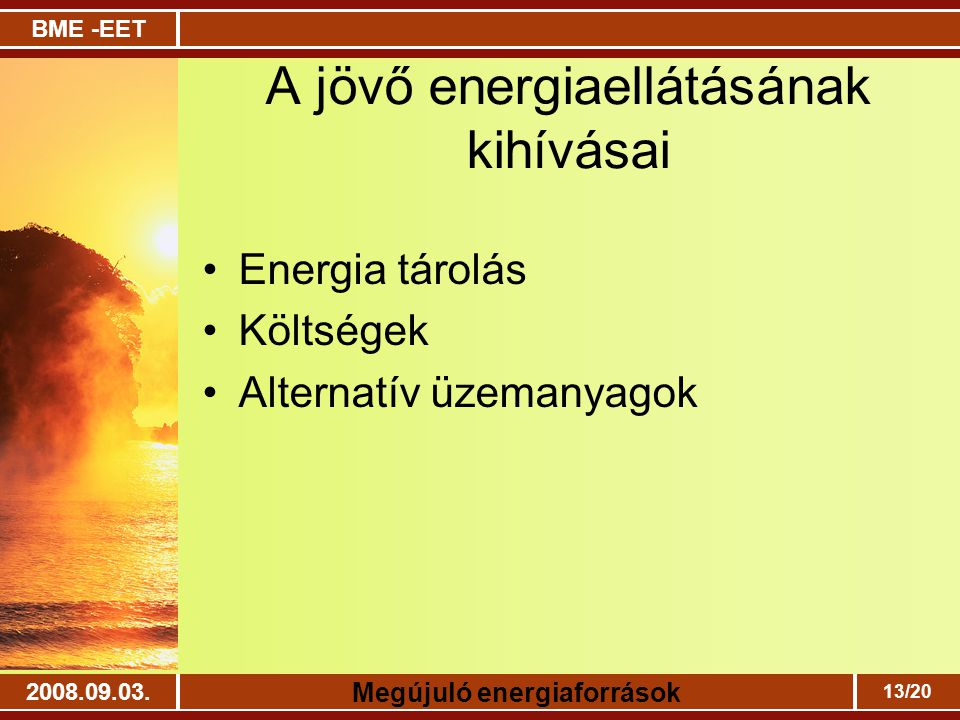 A jövő energiaellátásának kihívásai