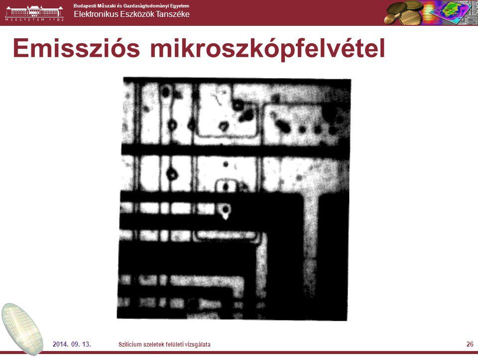 Emissziós mikroszkópfelvétel