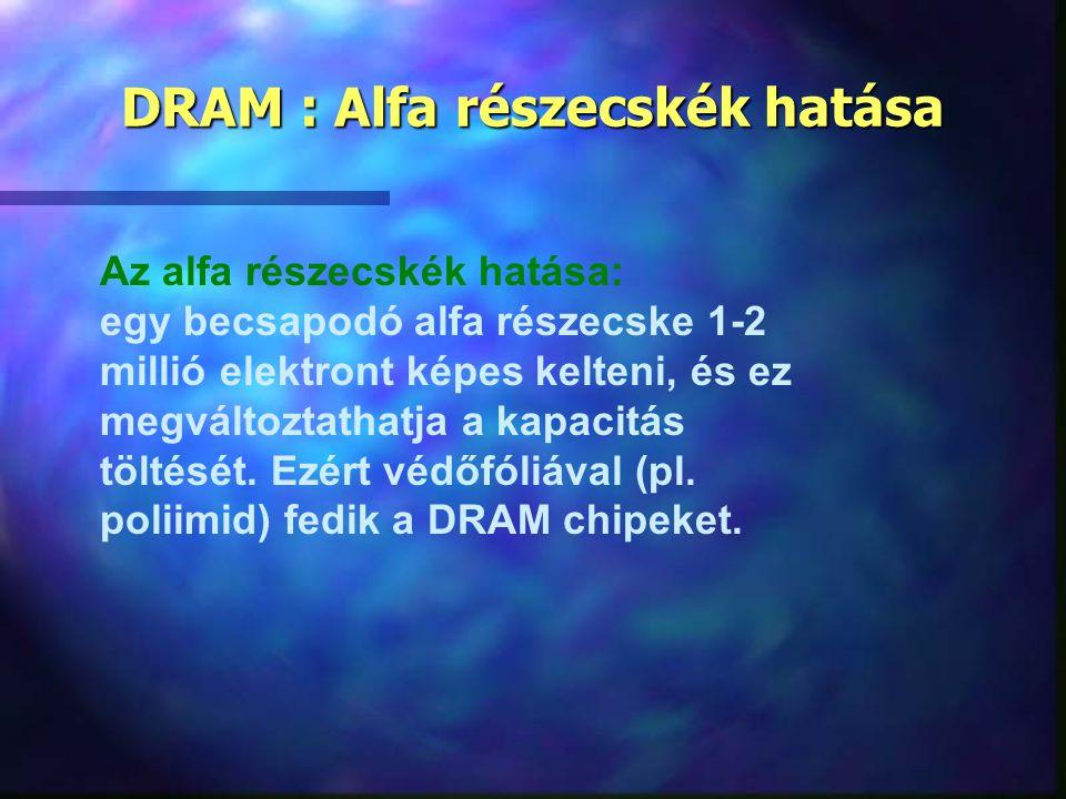 DRAM : Alfa részecskék hatása