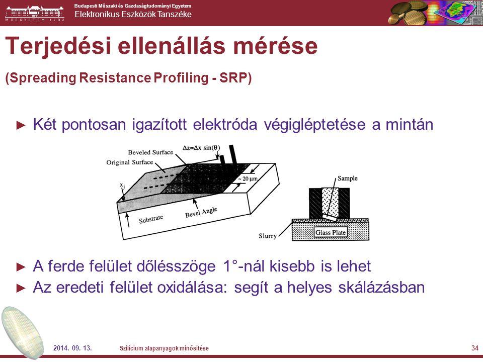 Terjedési ellenállás mérése (Spreading Resistance Profiling - SRP)