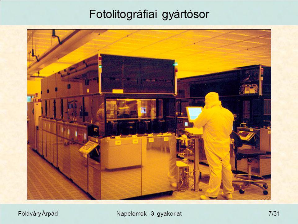 Fotolitográfiai gyártósor