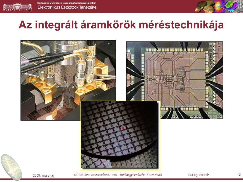 Az integrált áramkörök méréstechnikája