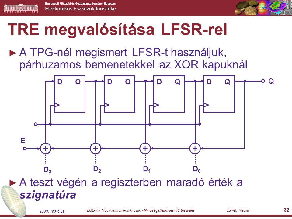 TRE megvalósítása LFSR-rel