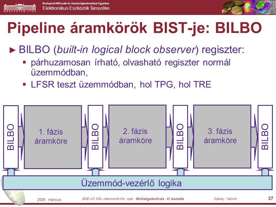 Pipeline áramkörök BIST-je: BILBO
