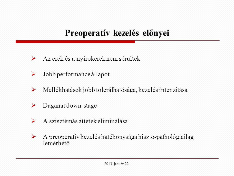 Preoperatív kezelés előnyei
