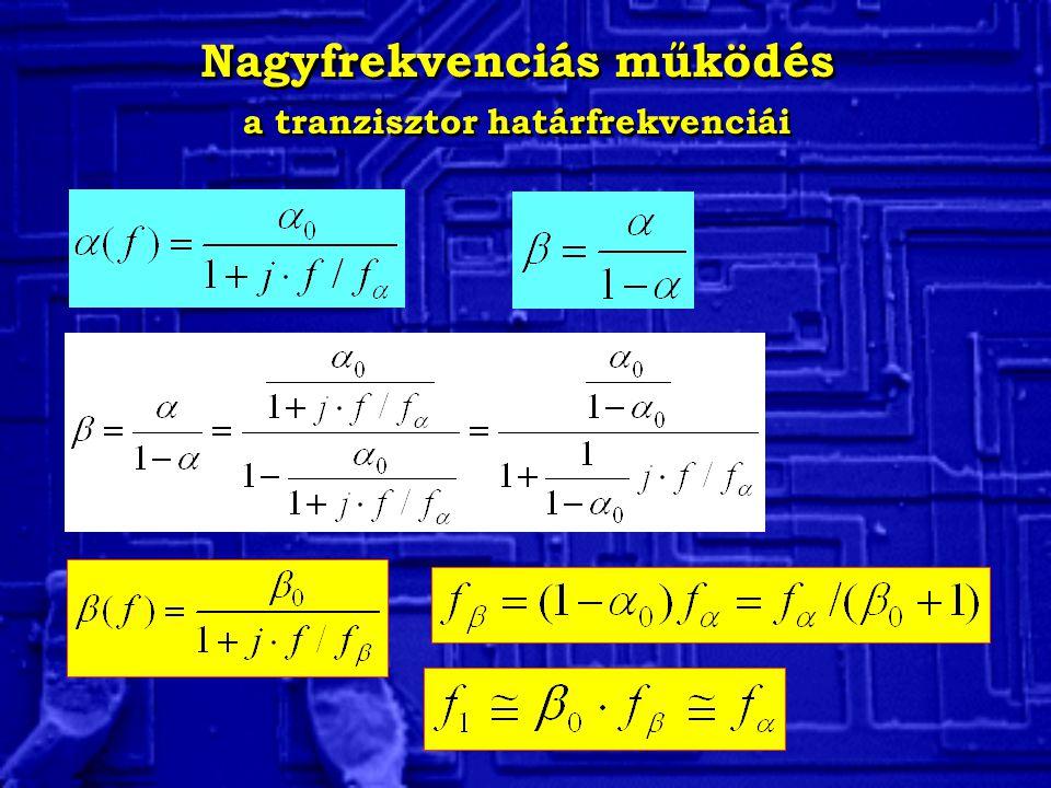 Nagyfrekvenciás működés a tranzisztor határfrekvenciái