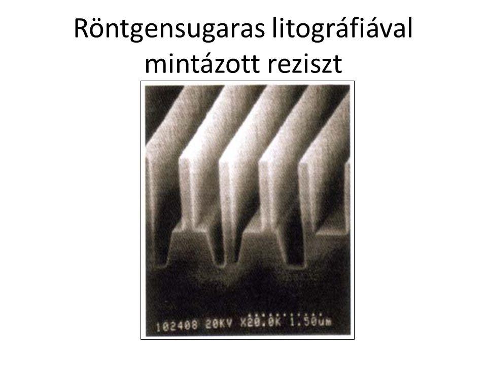 Röntgensugaras litográfiával mintázott reziszt