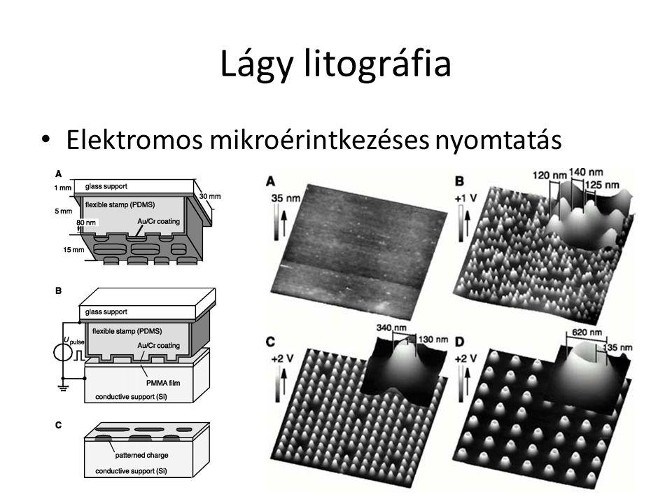 Lágy litográfia Elektromos mikroérintkezéses nyomtatás