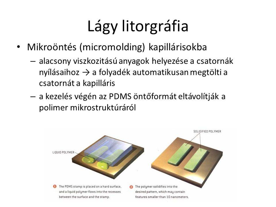 Lágy litorgráfia Mikroöntés (micromolding) kapillárisokba