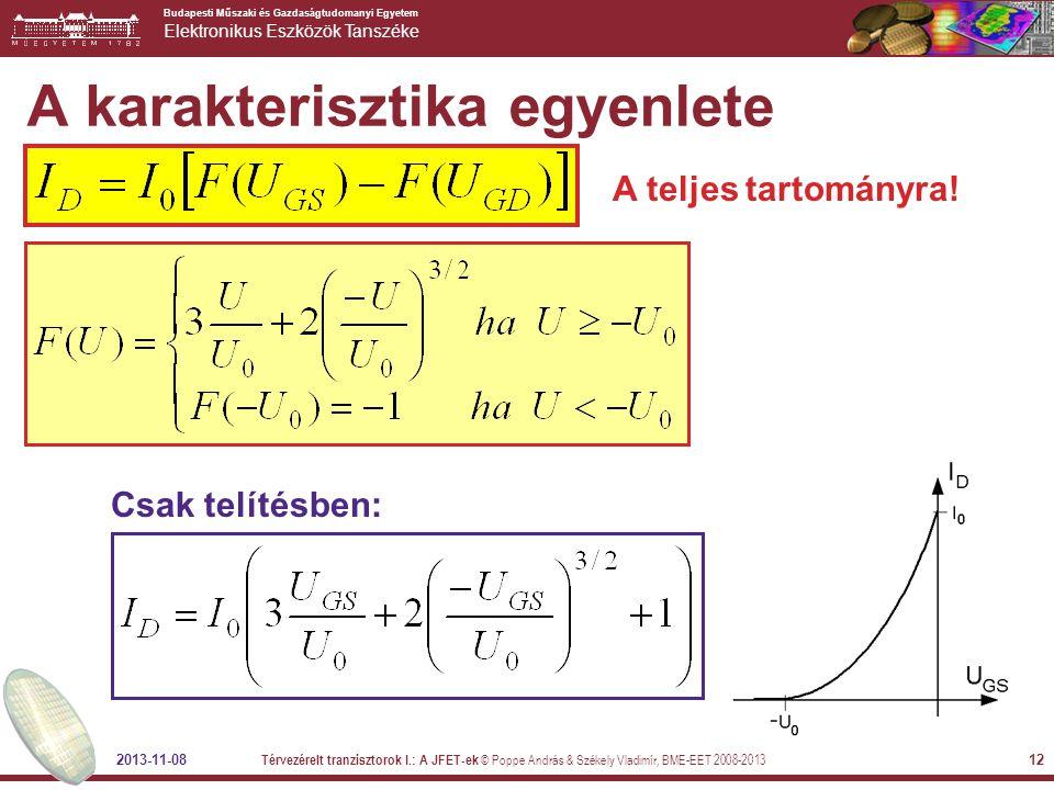 A karakterisztika egyenlete