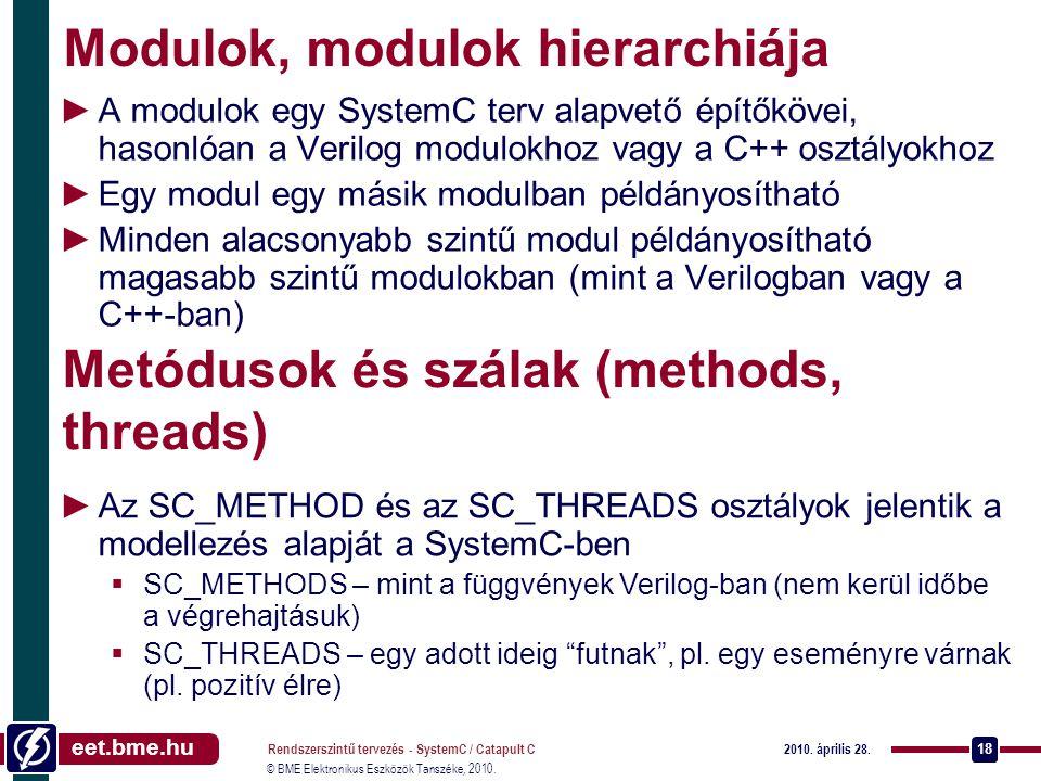 Modulok, modulok hierarchiája