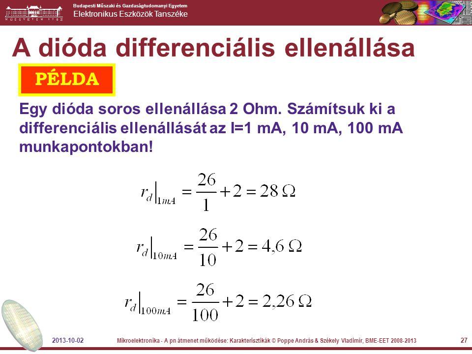 A dióda differenciális ellenállása