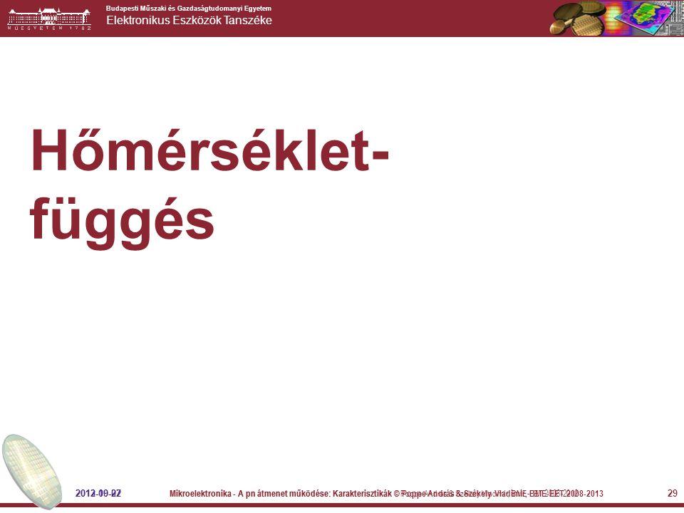 Hőmérséklet- függés 2013-10-02 2012-09-27