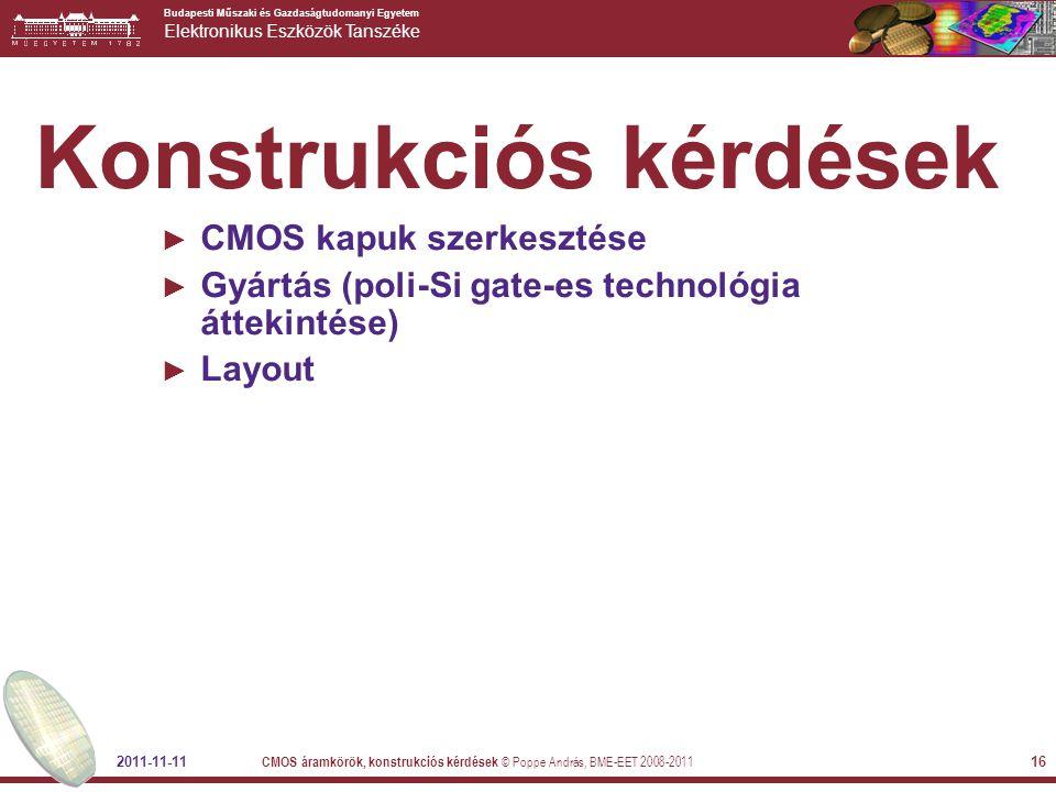 Konstrukciós kérdések