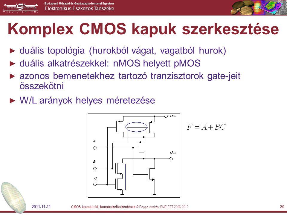 Komplex CMOS kapuk szerkesztése