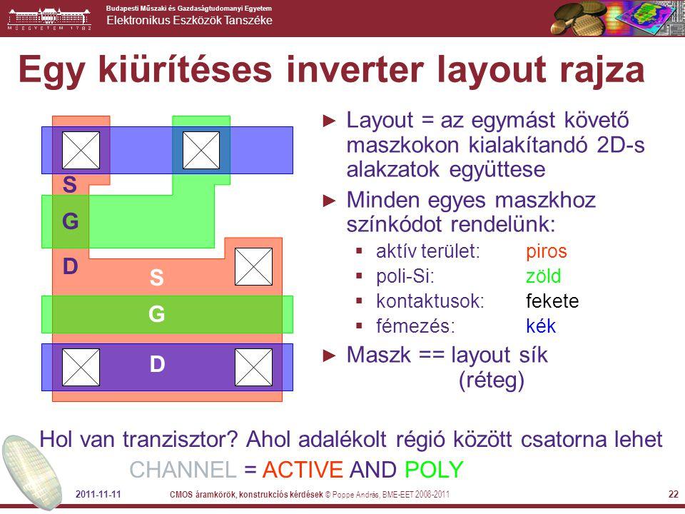Egy kiürítéses inverter layout rajza