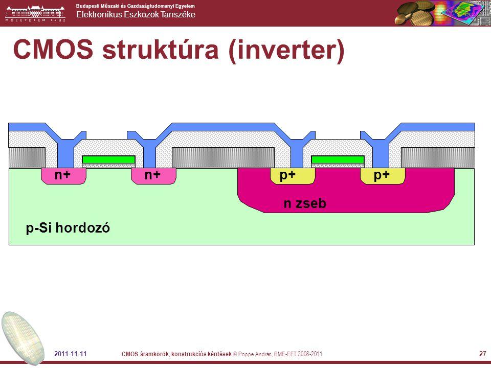 CMOS struktúra (inverter)