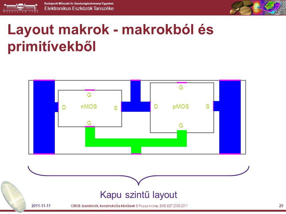 Layout makrok - makrokból és primitívekből
