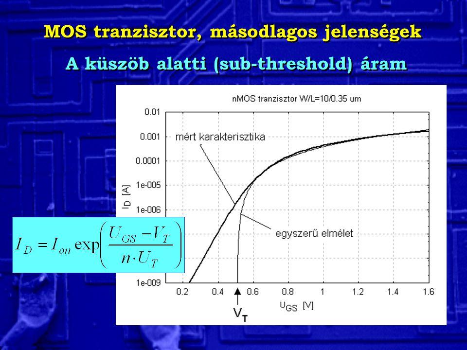 MOS tranzisztor, másodlagos jelenségek