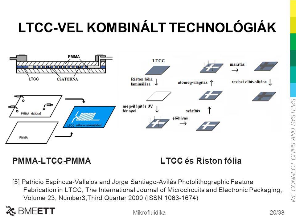 LTCC-VEL KOMBINÁLT TECHNOLÓGIÁK