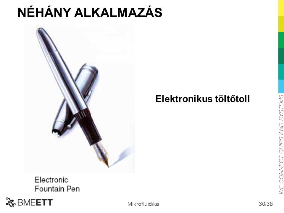NÉHÁNY ALKALMAZÁS Elektronikus töltőtoll Mikrofluidika