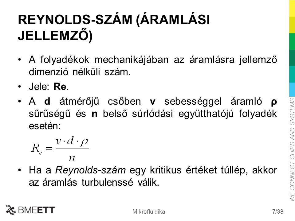 REYNOLDS-SZÁM (ÁRAMLÁSI JELLEMZŐ)