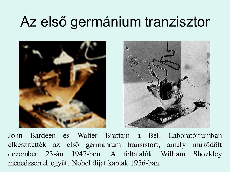 Az első germánium tranzisztor