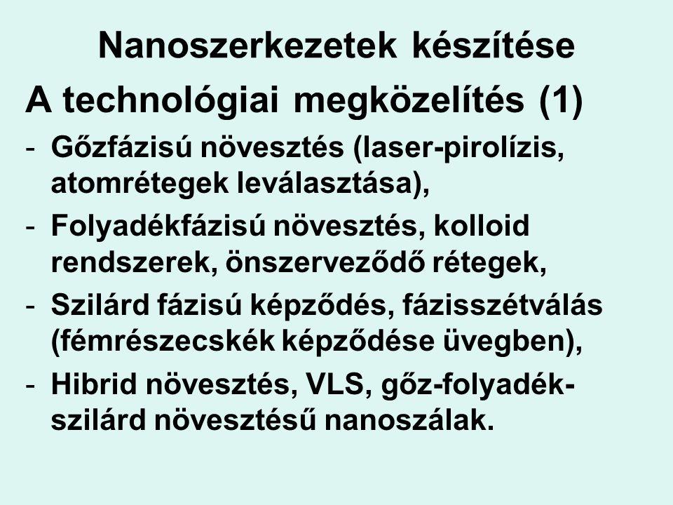 Nanoszerkezetek készítése
