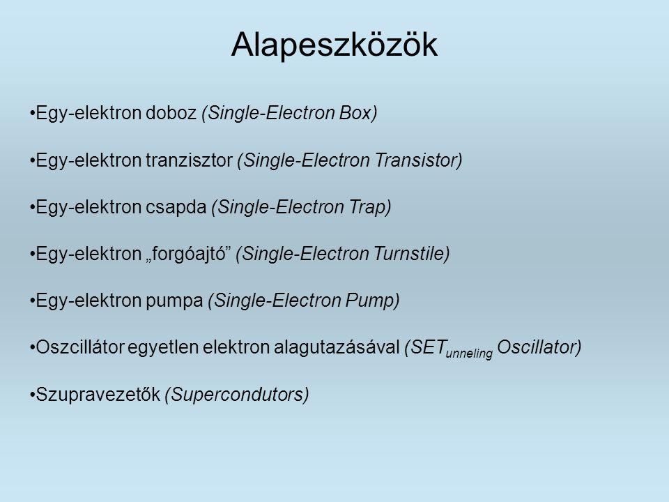 Alapeszközök Egy-elektron doboz (Single-Electron Box)