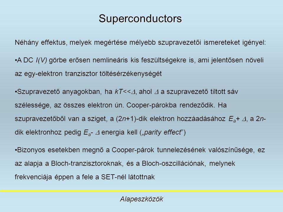 Superconductors Néhány effektus, melyek megértése mélyebb szupravezetői ismereteket igényel: